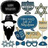 Big Dot of Happiness Happy Hanukkah - Hanukkah & Chanukah Photo Booth Props Kit - 20 Count