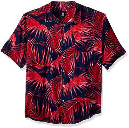 New England Patriots NFL Mens Hawaiian Button Up Shirt - XL