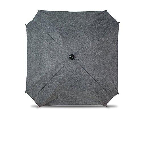 Sombrilla para cochecito de bebé, con brazo de fijación flexible, protección UV, diámetro de 68 cm (lino gris)