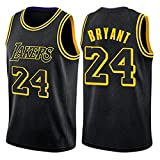 GQTYBZ Camiseta de Baloncesto de la NBA, Lakers # 24 Kobe Bryant Uniforme de Aficionado al Baloncesto Camiseta con Chaleco de Tela Transpirable Fresca, Camiseta Deportiva Sin Mangas Unisex