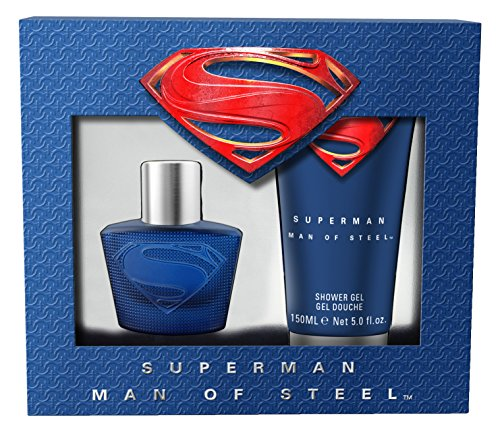 Superman Man of Steel Geschenkset: Eau de Toilette 30 ml + Duschgel 150 ml, 1er Pack (1 x 180 ml)