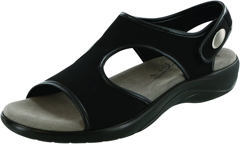 SAS Women's Harmony Sandal Black Leather