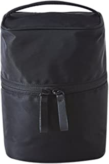 ithinkso VERTICAL MAKE-UP BOX 縦に収納できるボックスタイプ化粧ポーチ 化粧水 トラベル 旅行 (オールブラック)