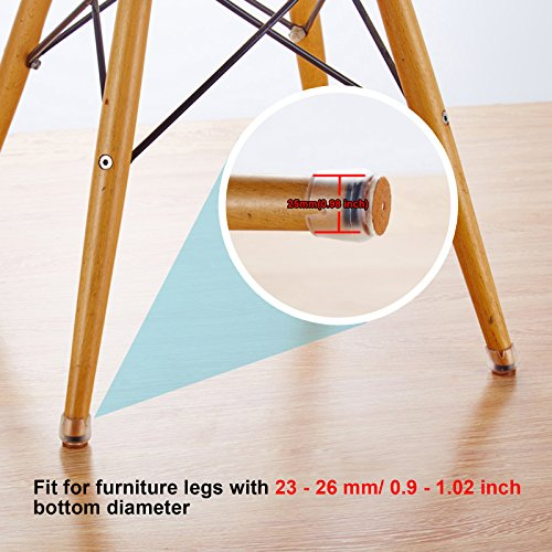 """GBGS 16Pcs Chair Leg Caps Furniture Table Feet Pads Covers Anti-clip Anti-Scratches Silicone Floor Protector 1"""" - 1 1/7"""""""