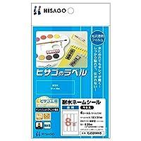 (まとめ買い) ヒサゴ ヒサゴのラベル 耐水ネームシール 透明 千社札 4シート入 CJ3314NS 【×5】
