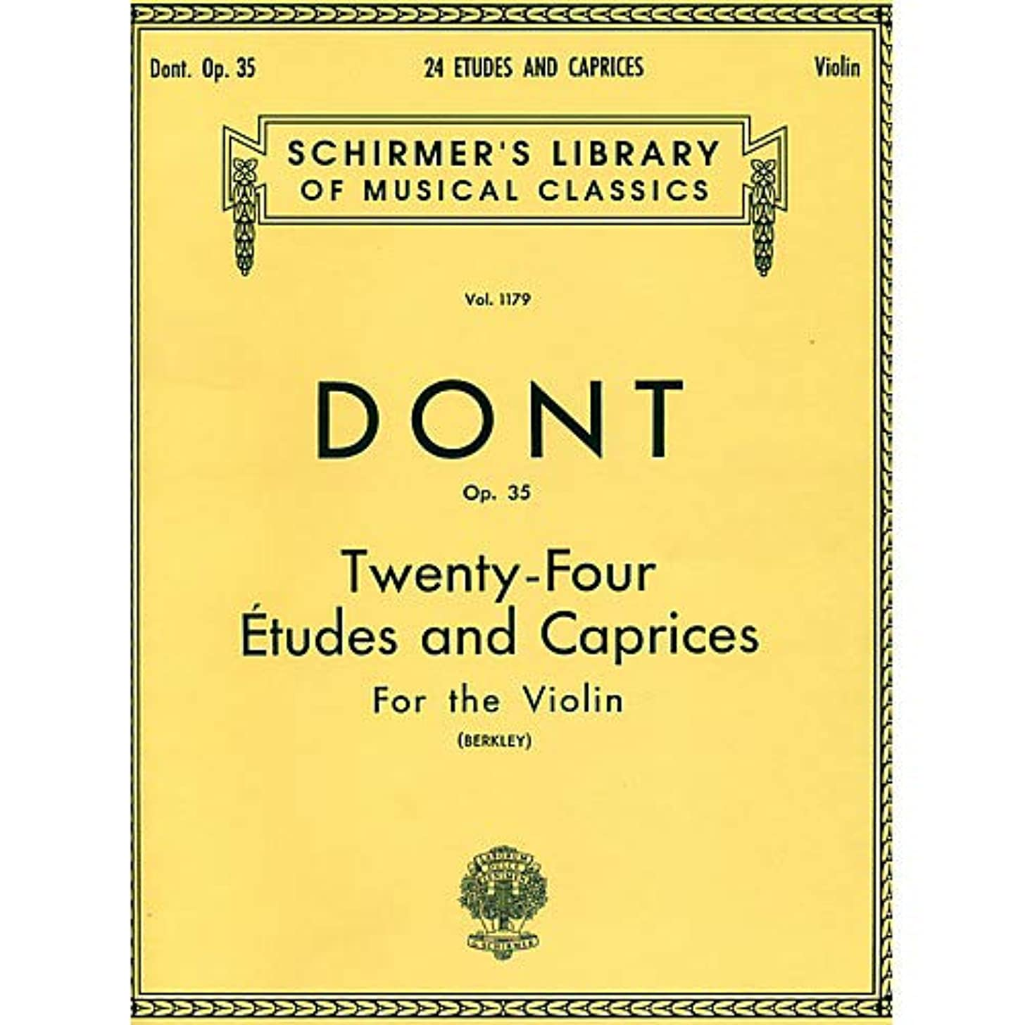24 Etudes And Caprices for The Violin Op 35 By Dont Pack of 3