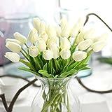 Tulipani finti, fiori artificiali in lattice di poliuretano, per matrimonio, casa, giardino, decorazioni, confezione da 10 pezzi