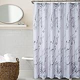 Duschvorhang, Marmortextur für Badezimmer, Polyestergewebe, wasserdicht, Badezimmerdekoration, grau, 183 cm B x 213,4 cm L