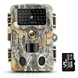 """KUFA T1 Hunting Game Camera with 32GB SD Card,20MP Trail Camera 1080P Infrared Sensors 2.4"""" LCD Low Glow Night Vision IR LEDs, 120° Detection Motion Activated Range for Wildlife Monitoring Digital"""