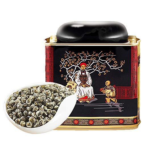 煕渓 ジャスミン茶150g 茉莉花茶 龍珠 香り濃厚 ドラゴンボールジャスミンティー 150g缶 入り 花茶 龙珠 ハーブティー 中国茶 天然花の香り 数粒を淹れれば香りが溢れる