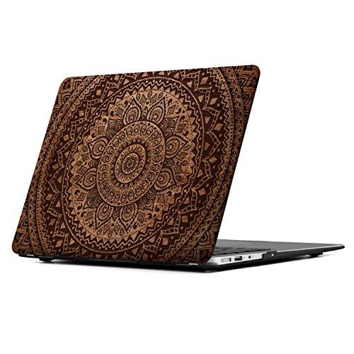 iCasso MacBook Retina 12 inch Case Art Printing Matte Hard Shell Plastic Protective Cover MacBook Retina 12 inch Model A1534 (Mandala&Wood&2)