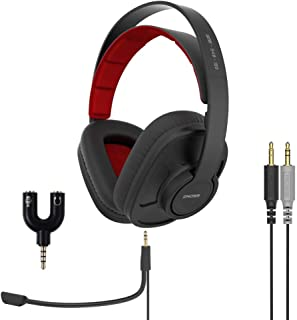 Koss GMR-540-ISO-ADP, Communication Gaming Headset with 3.5mm Headphone Splitter Adapter (2 TRS Female to 1 TRRS Male)