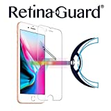 RetinaGuard iPhone8 ブルーライト90%カット強化ガラスフィルム (クリア)
