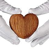 aufodara Caja de anillo de madera en forma de corazón anillo de compromiso joyería caja de regalo titular propuesta boda