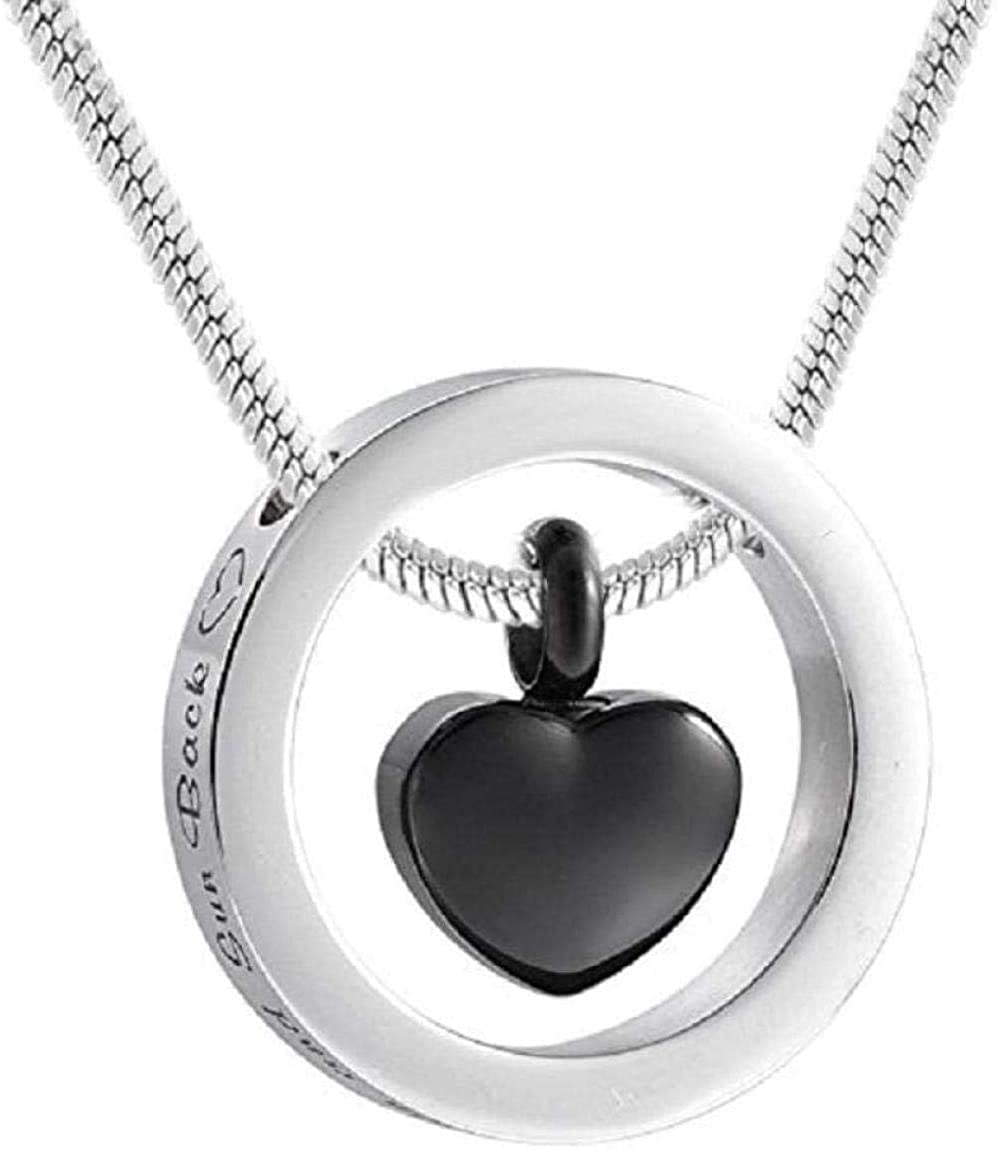 AEGW Cremation Urn Necklace Memorial Jewelry Urn Pendant Jewelry Dog Urn Cremation Urn Pendant Necklace I Love You to The Moon and Circle with Ur