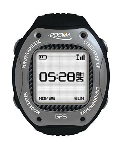 POSMA/Trywin W3 GPS Running Cycling Hiking Multisport Watch Navigation ANT+ Strava MapMyRide/MapMyRun (BHR20 Heart Rate Monitor and BCB20 Speed/Cadence Sensor Bundle Option Available) Gray