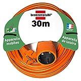 Brennenstuhl rallonge électrique 30m (câble H05VV-F 2x1,5, Orange), Fabrication Française