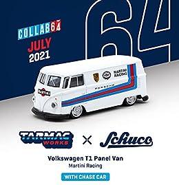 TARMACWORKS × Schuco 1/64 フォルクスワーゲン T1 Panel Van Martini Racing