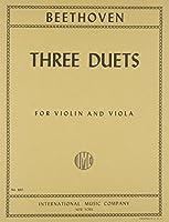 ベートーヴェン: バイオリンとビオラのための二重奏曲/インターナショナル・ミュージック社/室内楽パート譜セット 二重奏