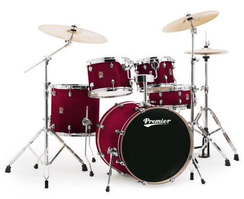 Premier Drums XPK Lacquer Birch Series 6489944TRL 5-Piece Drum Set, Trans Ruby