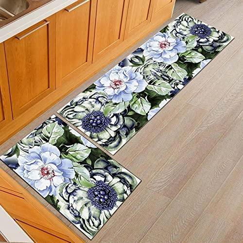 YUHG American Country Style Flower Cocina Mat de la Cocina a Prueba de Polvo Mesa de Comedor Alfombra Antideslizante Entrada Entrada Configuración Área de oración al Aire Libre Alfombra