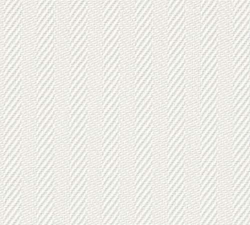 A.S. Création Glasfaser Tapete Glasgewebe 25, 00 M x 1, 00 M weiß überstreichbar Stoß- und kratzfest Made in Germany 90341 9034-1