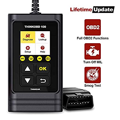 thinkcar THINKOBD 100 OBD2 Scanner, OBD2/ EOBD Car Code Reader with Full OBD2 Functions. Check Engine Code Reader Automotive Car Diagnostic Tool/Car Code Scanner for O2 Sensor/EVAP System/Smog Test from thinkcar
