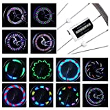 Cool Led Bike Wheel Lights - DAWAY A12 Bright Bicycle Tire Light (1 Pack), Safety Bycicle Spoke Accessories for Kids Boy Girl Adult, Burning Man, Christmas, Birthday Gift, Waterproof