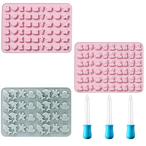 Mopoin Moldes de silicona con forma de ositos de gominola, 3