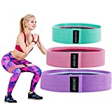 EASTERUP Resistance Booty Bands-Non Slip Fabric Three Different Resistances Hip Workout Bands for Women Booty Strength Training Weight Loss Yoga Pilates Set of 3 Wide Resistance Bands