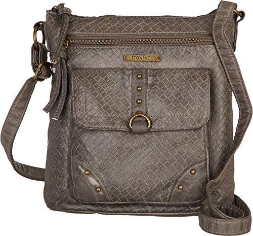Stone Mountain Smoky Mountain Woven Crossbody Handbag One Size Grey