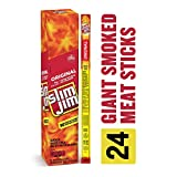 Slim Jim Giant Smoked Meat Stick, Original Flavor, Keto Friendly, .97 Oz. 24-Count