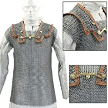 SAI Musicals Lorica Hamata Roman Knight Medieval 16g Steel Chainmail Armor Extra Large