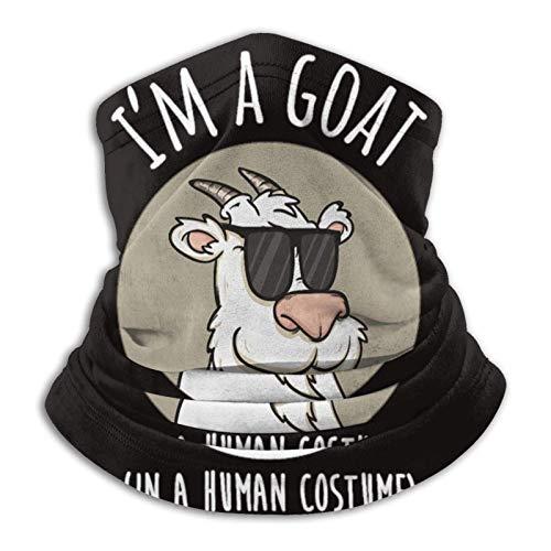 AEMAPE Soy una Cabra con un Disfraz Humano Divertida Cabra Microfibra Calentador de Cuello A Prueba de Viento, fro, mascarilla Mscara de esqu Polaina de Cuello Pauelo Facial