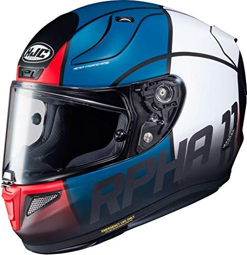 Casco moto HJC RPHA 11 QUINTAIN MC21SF, Nero/Blu/Bianco/Rosso, S