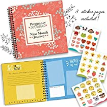 My 9 Month Journey Pregnancy Journal And Baby Memory Book With Stickers | Baby Scrapbook and Photo Album | Perfect Pregnancy Gifts For First Time Moms | Picture and Milestone Books for Toddlers