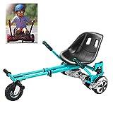WYJW Hoverboard Seat Hoverkart Go Kart Soporte autoequilibrante para automóvil con diseño de Doble Varilla y Doble Amortiguador Compatible con Classic 6.5'a 10' y Off Road 8.5'Self Ba