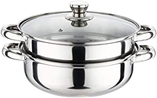 ykx4Xj08 28CM Soup Steam Pot 2 Layers Thick Stainless Steel Pot with Lid for Kitchen Cooking Double layer 28CM