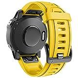 ANBEST Silicona Pulsera Compatible con Garmin Fenix 6S/Fenix 5S Correa, Liberación Rápida 20mm Correas de Reloj Repuesto para Fenix 6S Pro/5S Plus/D2 Delta Smart Watch, Amarillo