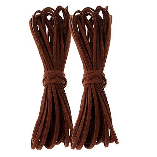 kowaku Cuerda de Cordón de Cuero PU de 4 Rollos para Collar, Pulsera, Hallazgos de Bricolaje
