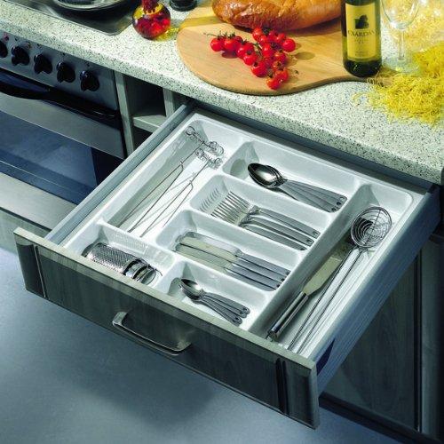 Smart range-couverts pour tiroir en plastique blanc 45 cm-poids : 350–390 mm