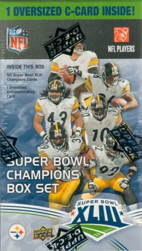 2009 Upper Deck Pittsburgh Steelers Super Bowl 43 XLIII Champs Limited Edition Factory Sealed product image