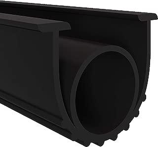Garage Door Seals Bottom Rubber Weather Stripping Kit Seal Strip Replacement,Universal Weatherproof Threshold Buffering Sealing Rubber 5/16