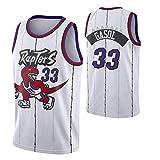 del Baloncesto de los Hombres Jersey # 33 Marc Gasol Toronto Raptors Multi-Estilo Nueva Jersey Tela (Color : 5, Size : M)