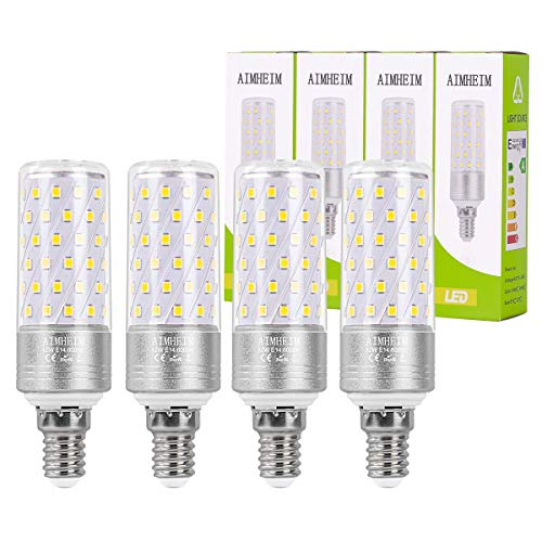 AIMHEIM E14 LED Mais Glühbirne, 12W entspricht 100W Halogenlampe, 1350LM, Kaltweiß 6000K, Kleine Edison-Schraube E14 LED Lampe Nicht Dimmbar, AC 220-240V, 4er Pack