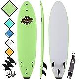 Soft Top Surfboard - Best Foam Surf Board for Beginners, Kids, and...