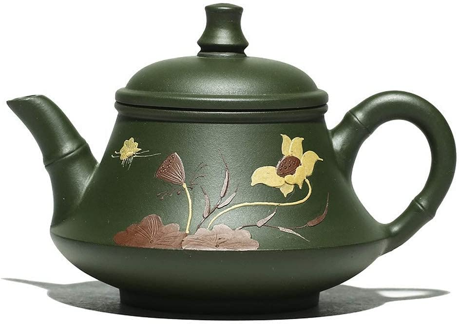 Teapot Japanese, Purple Cheap super special price Clay Green Mud Handmade Gorgeous Yixing