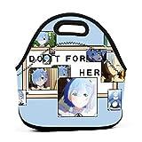XCNGG Rezero - Rem - Do It For Her Hombres Mujeres Niños Bolsa de almuerzo aislada Tote Fiambrera reutilizable para el trabajo, la escuela, el picnic