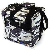 KAZE SPORTS Deluxe Single Ball Bowling Tote Bag (Snow Camo)