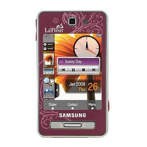 Samsung SGH-F480i Smartphone (Touchscreen, 5MP Kamera, UMTS, HSDPA) La Fleur Scarlet Red